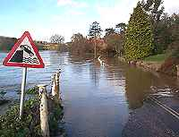 Severn in Flood at Arley